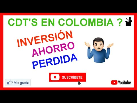 CDT Colombia Inversion Ahorro o Perdida