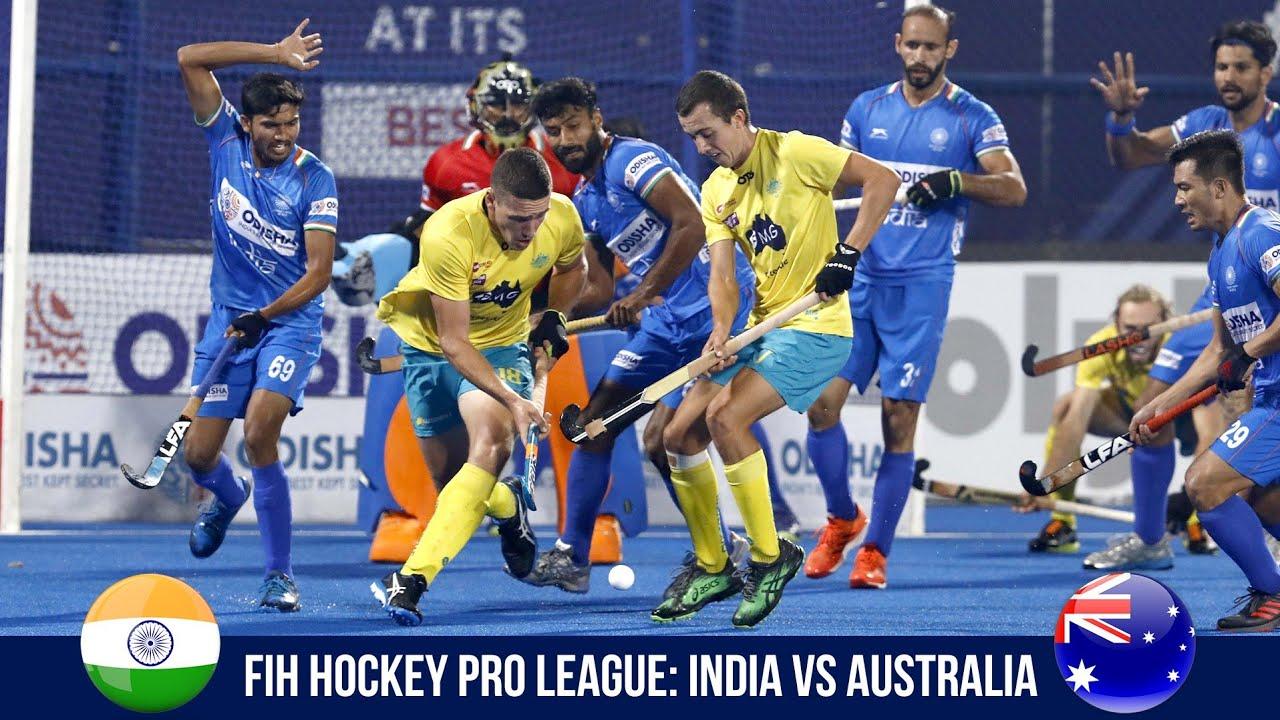 Fih Hockey Pro League Match  Highlights India Vs Australia Youtube
