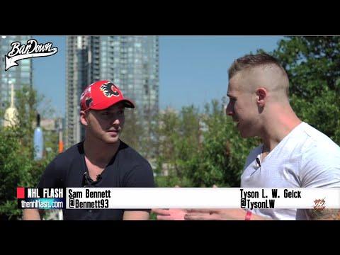Sam Bennett of the Calgary Flames one-on-one