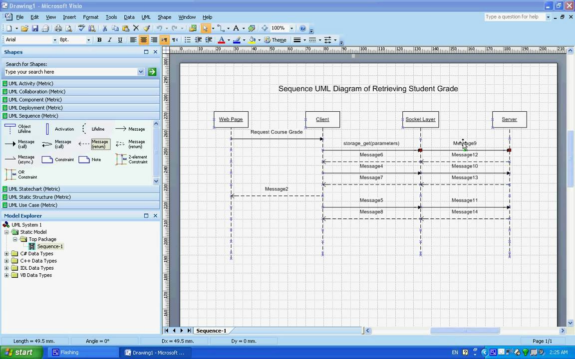 sequence uml diagrams example understanding creating them using microsoft visio youtube [ 1152 x 720 Pixel ]