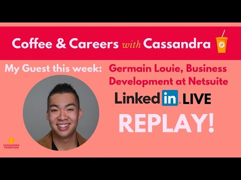 Job search and networking tips for recent college grads Coffee & Careers with Germain Louie