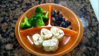 Toddler Meal Idea: Turkey Pinwheels With Broccoli And Blueberries