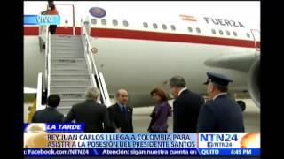 Rey Juan Carlos llega a Colombia para la investidura de Santos