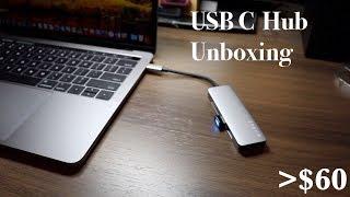 USB C Hub from AMAZON Under $60 Unboxing [4K HDMI] [2X USB 3.0] [SD/TF Card Reader]