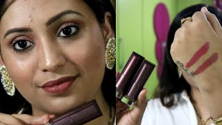 Maybelline creamy matte sensational duo lipstick review NUDE NUANCE & TOUCH OF SPICE