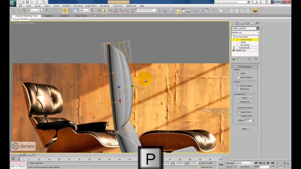 Armchair On Youtube Modelling A Leather Chair In 3ds Max Part 3 Youtube