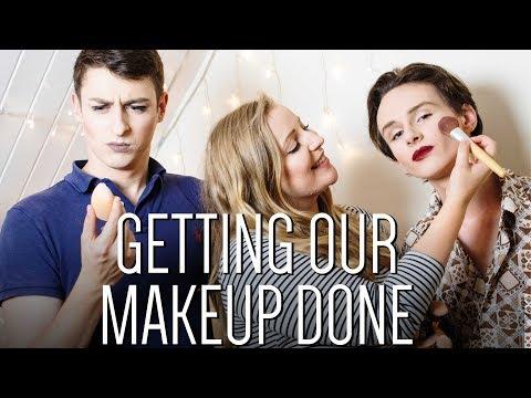 Dan and Simon get their makeup done
