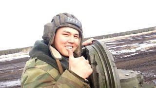 Стрельба из танка Т - 72Б  Зимой (Shooting from tank)