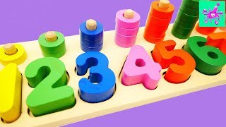 Learning Colors and Counting with a Wooden Toy | Learn Colors | 1 to 10 | Learn to Count for Kids