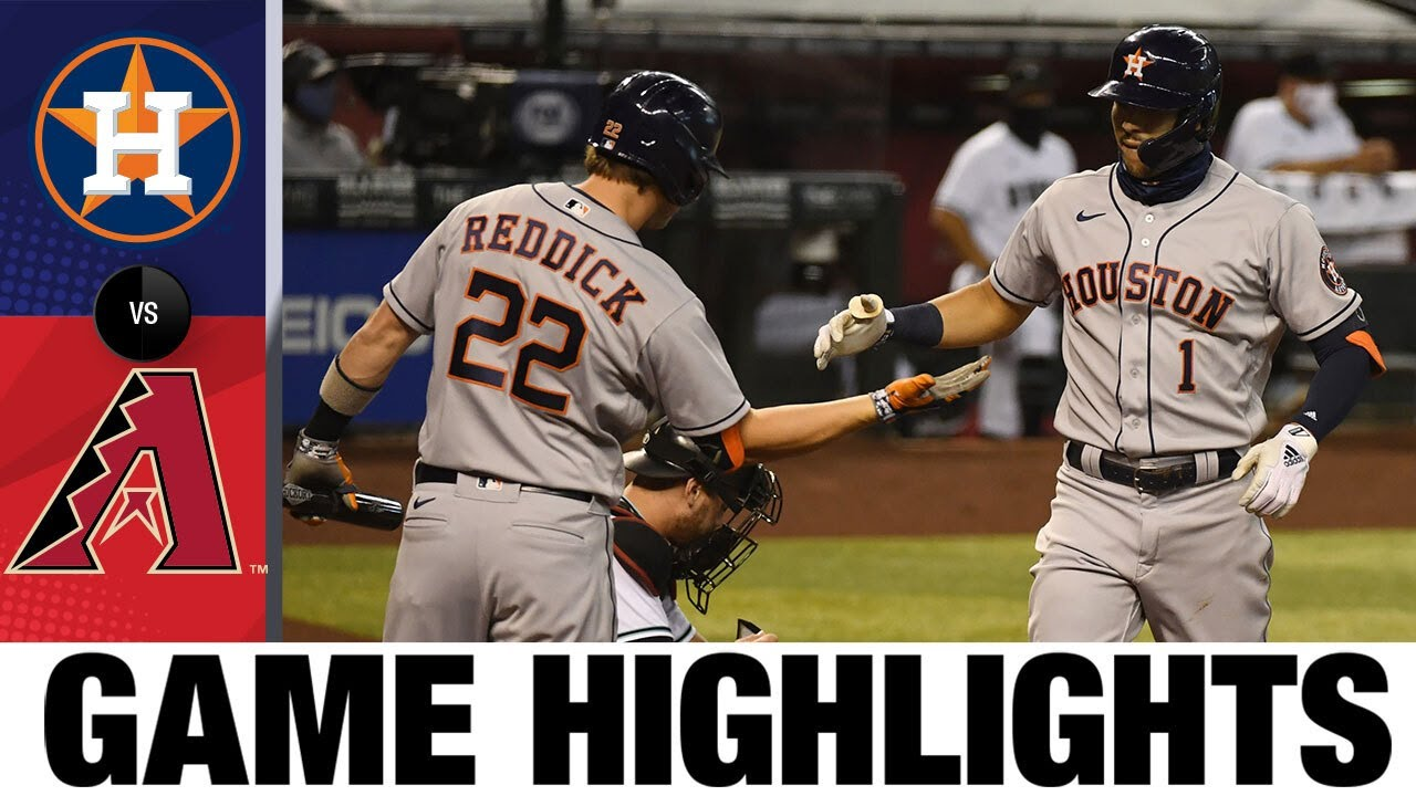 Jose Altuve, Carlos Correa homer in 8-2 win | Astros-D-Backs Game Highlights 8/4/20