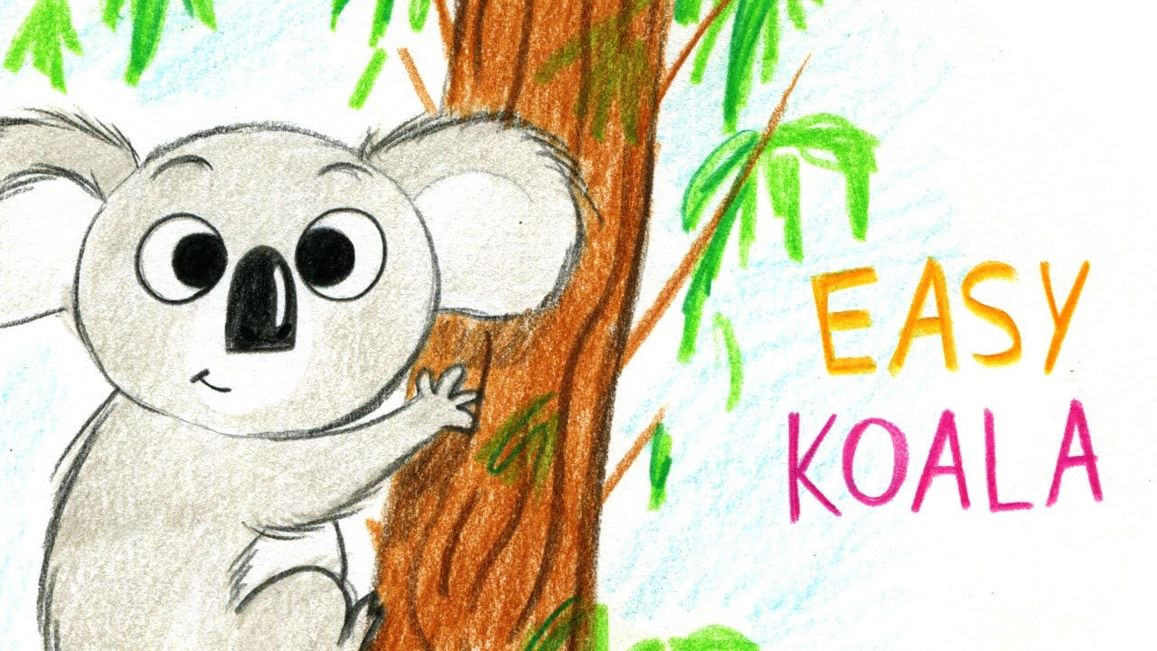 How To Draw A Cute Koala Easy Way Comment Dessiner Un Koala