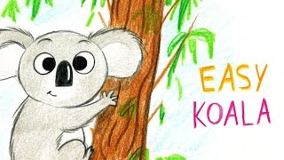 HOW TO DRAW A CUTE KOALA (EASY WAY) / COMMENT DESSINER UN KOALA FACILEMENT