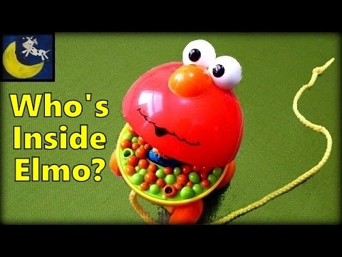 Sesame Street Elmo Giggle Surprise Giggle & Go Driver Pop Up Toy! Who is Inside?