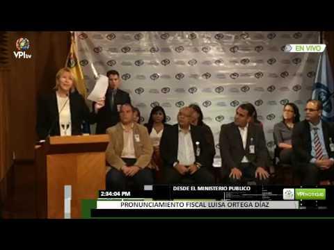 Pronunciamiento de la Fiscal Luisa Ortega Díaz sobre al ANC
