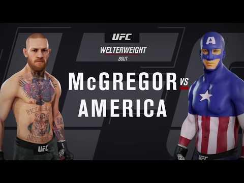 Conor McGregor vs. Captain America (EA Sports UFC 3) - CPU vs. CPU