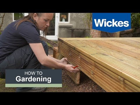 How To Build A Raised Deck With Wickes Youtube