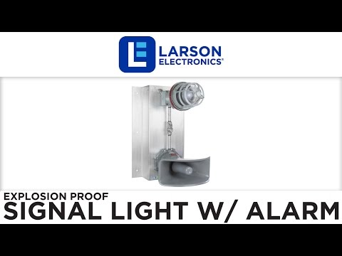 Explosion Proof Signal Light w/ Audible Alarm - Class 1 Div 1 Class 2 Div 1 - Multiple Colors