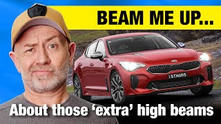 The truth about th๐se 'extra' Kia Stinger high beams   Auto Expert John Cadogan