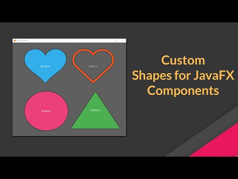 Custom Shapes For JavaFX Buttons, Labels, TextField, ListView Etc