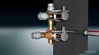 Montage inbouw bad / douche thermostaat met 3x uitgang