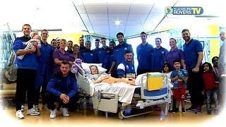 Rovers players visit Children's Unit