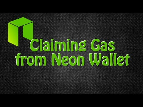 Claim Gas From The Neon Wallet For Neo