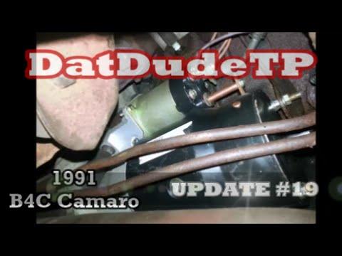 datdudetp 1991 b4c camaro project series starter, spark plug 91 Camaro Alternator Wiring datdudetp 1991 b4c camaro project series starter, spark plug & wires installation, update 19 91 camaro alternator wiring