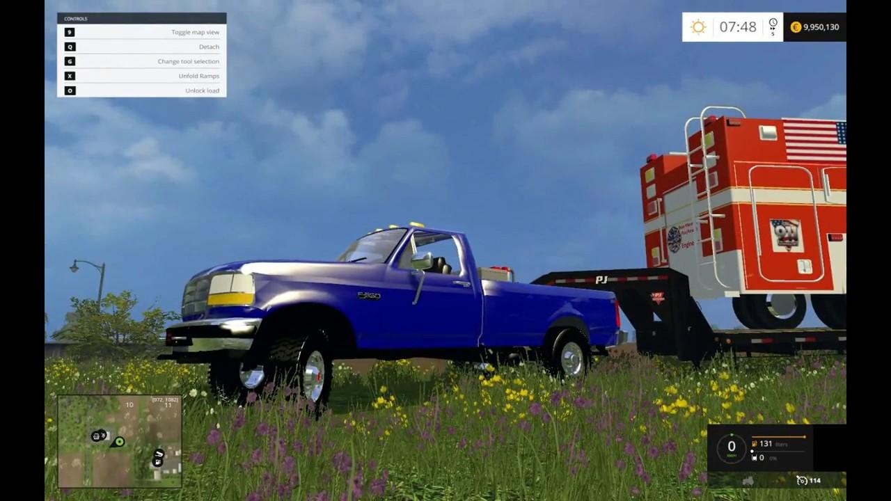 Farming Simulator 2015 - 1997 Ford F350 Powerstoke - YouTube  Farming Simulat...