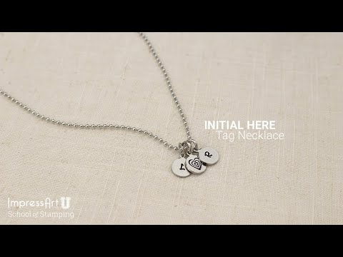 Hand Stamped Initial Necklace - ImpressArt