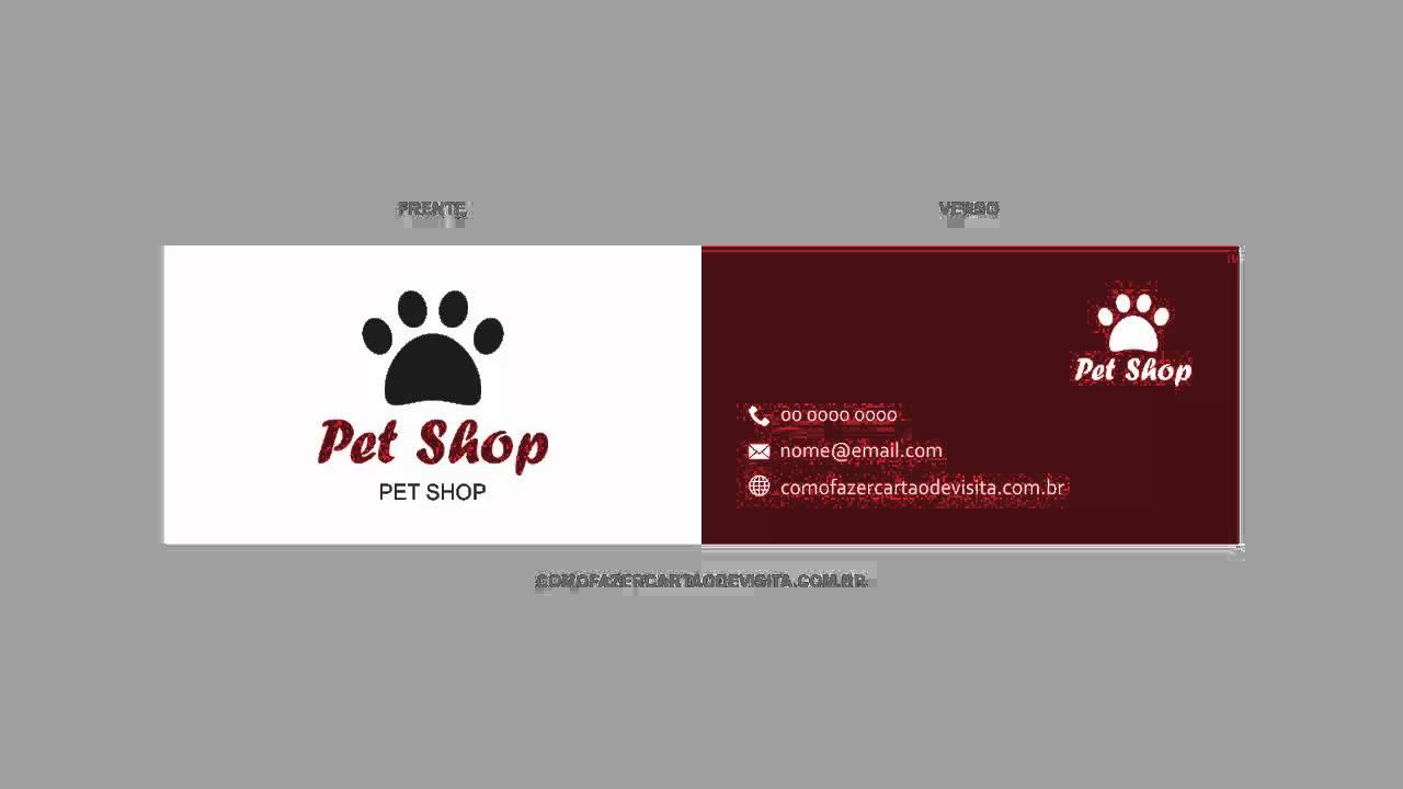 modelo de cart u00e3o de visita para pet shop  vetor