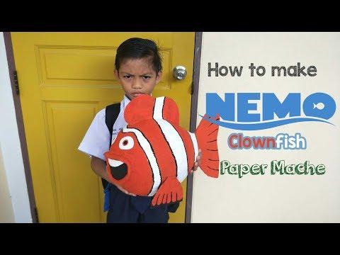 How To Make Nemo Fish Paper Maché