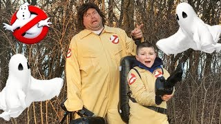Ghostbusters Showdown with Ghosts in the park pretend play fun kids video