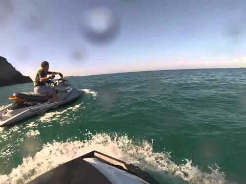 Sea-doo , Jet ski ride to Zenith Beach Port Stephens July 2013
