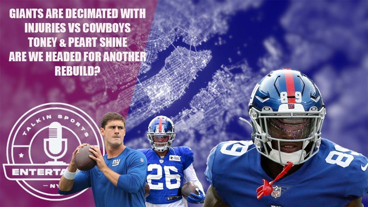 New York Giants | Toney shines | Jones, Saquon & Golladay hurt | What is the direction of this team?