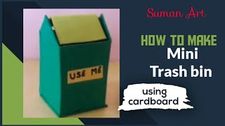 How to make a miniature trash bin / using cardboard.