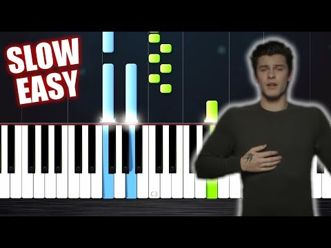 Shawn Mendes - In My Blood - SLOW EASY Piano Tutorial by PlutaX
