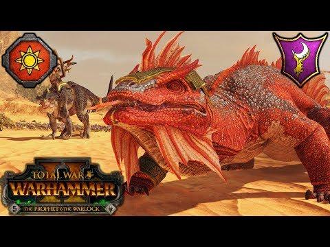 ANCIENT SALAMANDER IS GODLIKE! - Lizardmen Vs. Dark Elves - Total War Warhammer 2