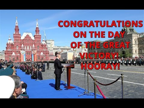 Great Putin's Speech At Victory Day Parade 2018 in Moscow, Russia