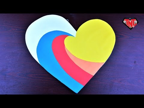 how-to-make-easy-&-simple-cardboard-heart-wall-decor-❤-valentine-day-gift-and-decoration-ideas
