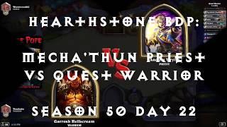 Hearthstone BDP: Quest Warrior vs Mecha