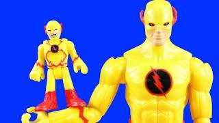 Imaginext Reverse Flash Captures Superheroes   Flash Alternate Universe Rescues Green Lantern Batman