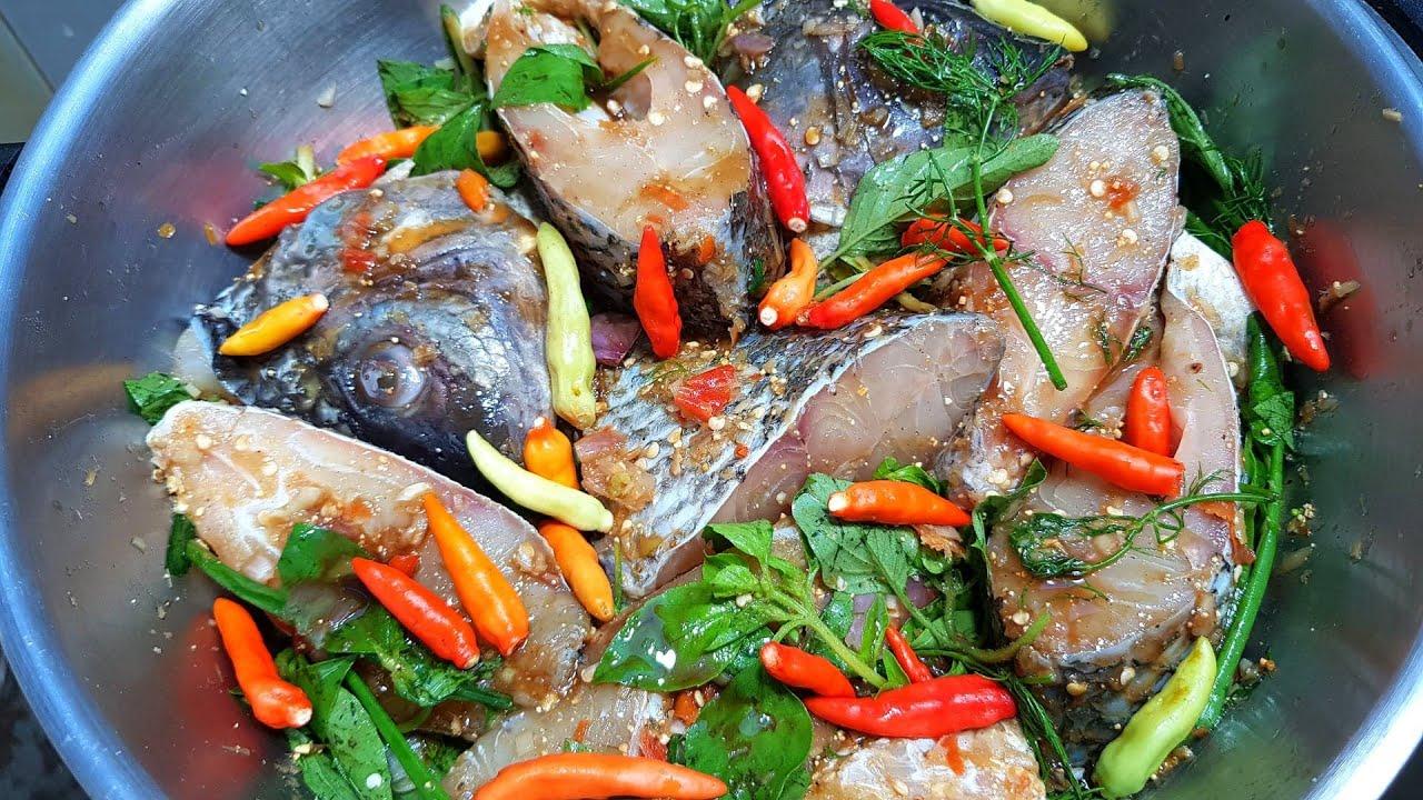 931 หมกหม้อปลานิล แซ่บ นัว Thai Steamed Curried Fish