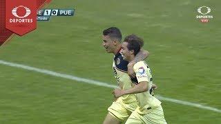 Gol de Sebastián Córdova | América 1 - 0 Puebla | Clausura 2019 - J10 | Televisa Deportes