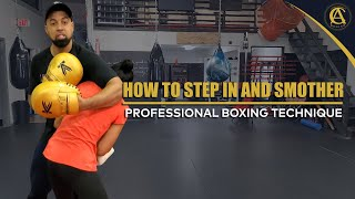 How To step in and smother  { Professional Boxing technique} ft.2 time national champion from India!