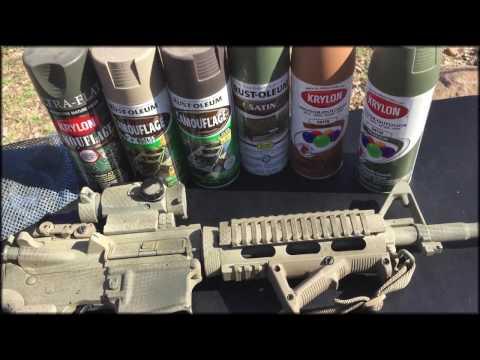 Cheap, Easy Camo Gun Paint