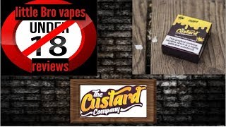 vanilla custard from the custard company by little bro vapes reviews