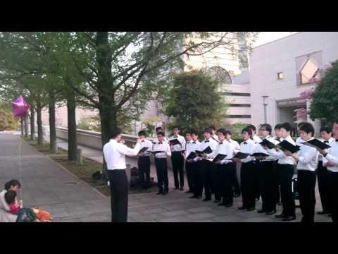 Singing in Yokohama by group from Sendai, Miyagi
