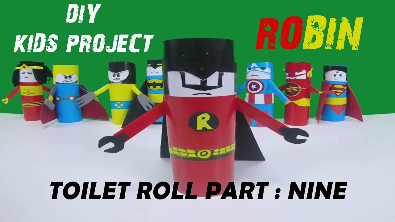 Robin Diy Toilet Paper Roll Craft Series 9 Youtube