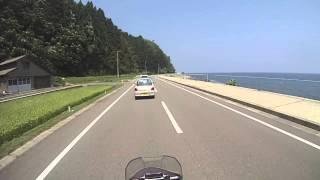 佐渡島上陸〜県道45号線(内海府海岸)を走る with Tiger800XC