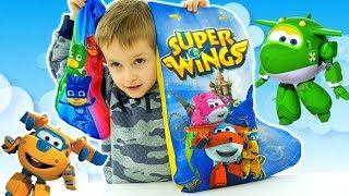Calze Super Pigiamini: Pj Masks Portano Tanti Dolciumi - Super Wings Con Fantastici Giocattoli